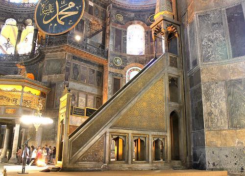 mimbar Hagia Sophia Istanbul Turki