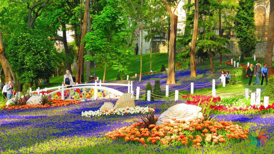 Festival Tulip di Gülhane Park Istanbul Turki