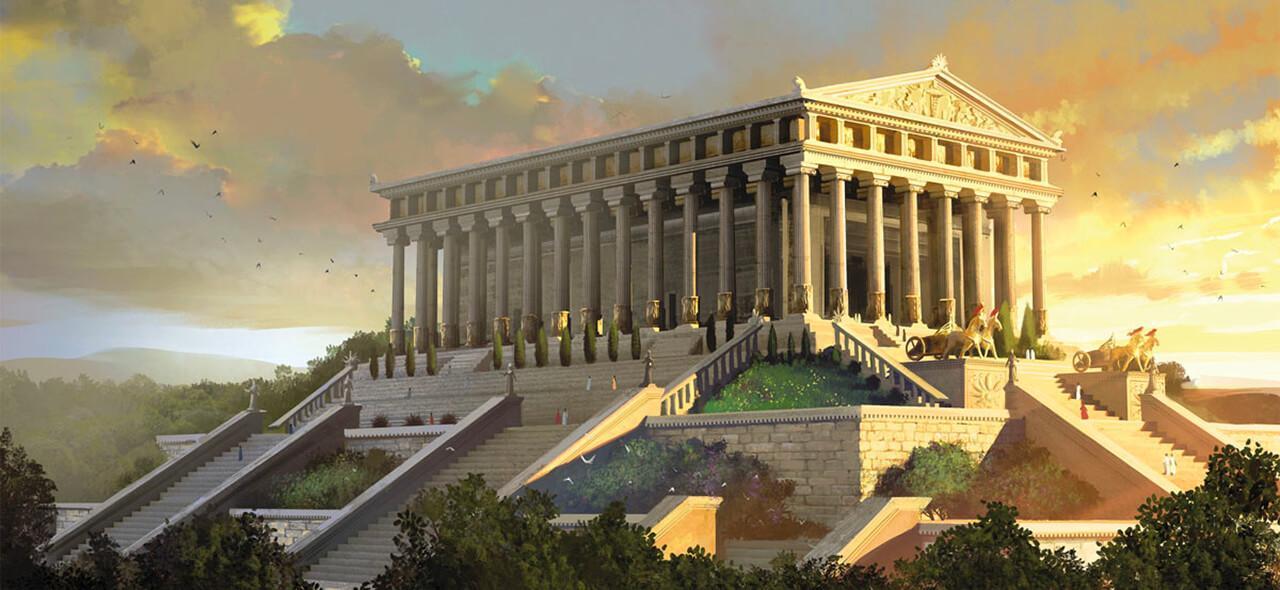 ilustrasi kuil artemis