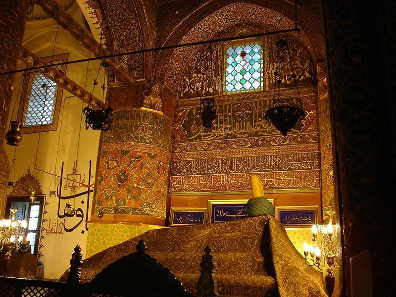 Kaligrafi di Makam Rumi