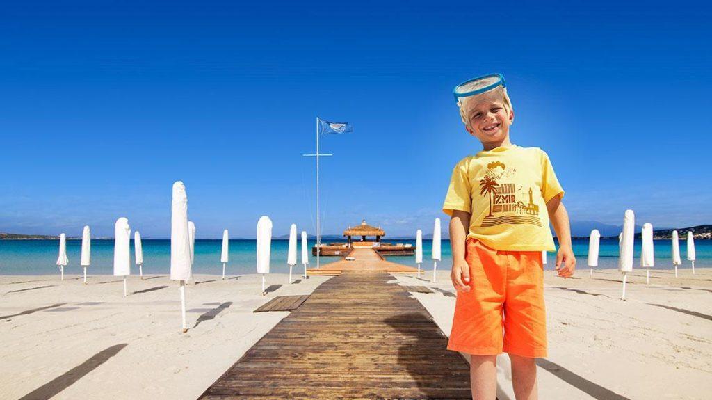 Pantai berbendera biru di izmir