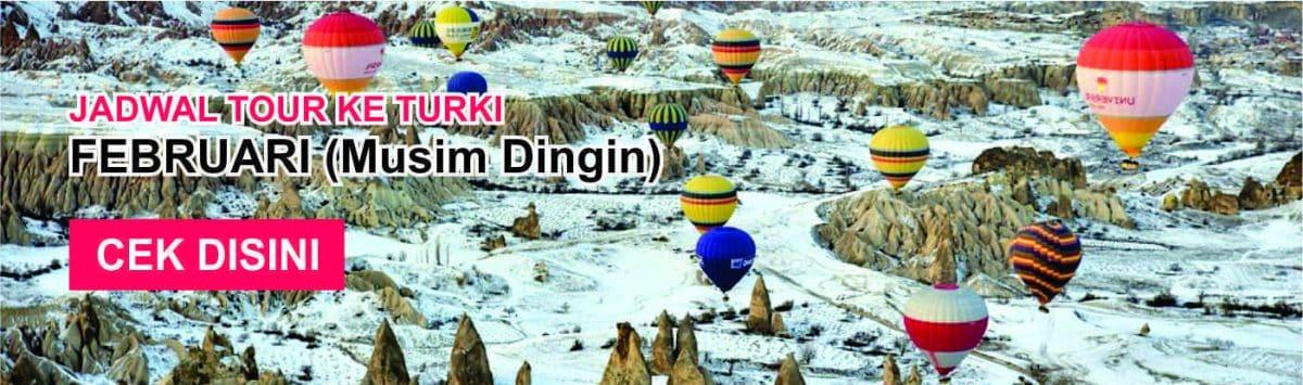 Jadwal promo paket tour ke turki murah februari musim dingin