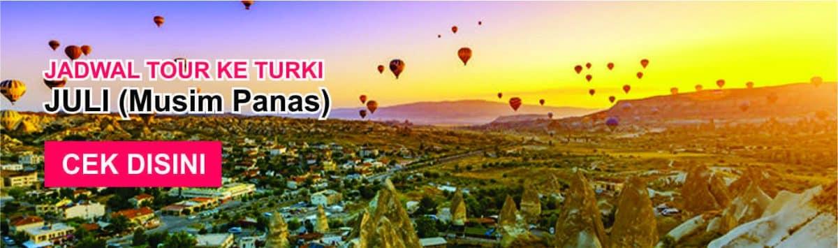 Jadwal promo paket tour ke turki murah juli musim panas