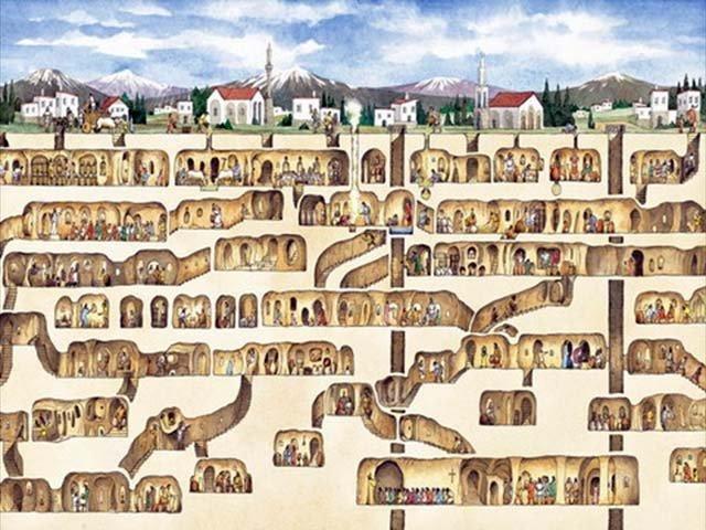 kota bawah tanah derinkuyu turki