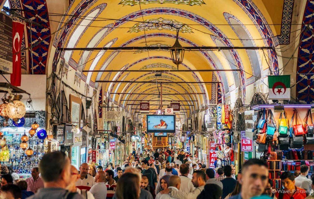 suasana di dalam grand bazaar